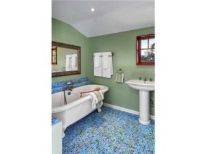 Gorgeous master bath and claw-foot tub waiting to be enjoyed. He